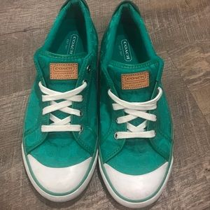 Women's Shoes Coach Brand green Sneakers Size 9.5